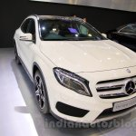 Mercedes GLA front three quarters at the Indonesia International Motor Show 2014