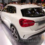 Mercedes GLA rear three quarters at the Indonesia International Motor Show 2014