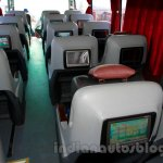 Mercedes OC 500 RF 2542 bus chassis screens on seat backs at the 2014 Indonesia International Motor Show