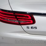 Mercedes S65 AMG Coupe badge at Moscow Motor Show 2014