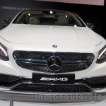 Mercedes S65 AMG Coupe front at Moscow Motor Show 2014