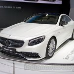 Mercedes S65 AMG Coupe front three quarters at Moscow Motor Show 2014