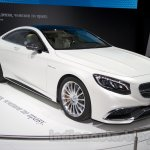 Mercedes S65 AMG Coupe front three quarters left at Moscow Motor Show 2014