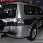 Mitsubishi Pajero facelift rear three quarter at CAMPI 2014