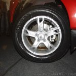 New Mahindra Scorpio alloy wheel at the launch
