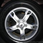 New Mahindra Scorpio alloy wheel design at the launch