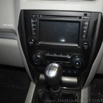 New Mahindra Scorpio center console zoom in at the launch