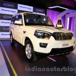 New Mahindra Scorpio front quaretrs Delhi launch