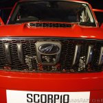 New Mahindra Scorpio grille at the launch