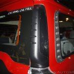 New Mahindra Scorpio rear grab rail at the launch