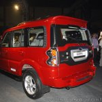 New Mahindra Scorpio rear three quarters left at the launch