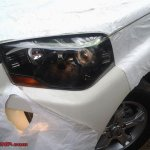 New Mahindra Scorpio revealed headlight