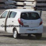 New Maruti Alto K10 facelift revealed rear angle