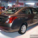 Nissan Almera (Sunny) rear three quarter at the Philippines International Motor Show 2014