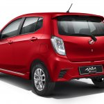 Perodua Axia press shot Advance rear three quarter