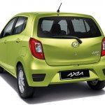 Perodua Axia press shot rear three quarter