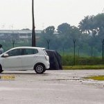 Perodua Axia spied in Malaysia Advance side