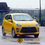Perodua Axia spied in Malaysia yellow front