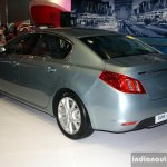 Peugeot 508 Hyrbid4 rear three quarter at the Philippines Motor Show 2014
