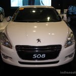 Peugeot 508 front at the Philippines Motor Show 2014