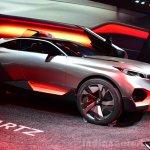 Peugeot Quartz front three quarters left at the 2014 Paris Motor Show