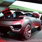 Peugeot Quartz rear three quarters right view at the 2014 Paris Motor Show