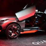 Peugeot Quartz side view door open at the 2014 Paris Motor Show