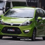 Proton Iriz driven by Dr. Mahathir Mohamad front three quarter left