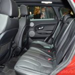 Range Rover Evoque SW1 rear seats at the 2014 Paris Motor Show