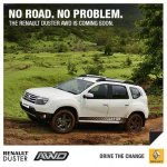 Renault Duster AWD India press shot front quarter