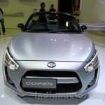Silver Daihatsu Copen front at the Indonesia International Motor Show 2014