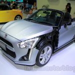 Silver Daihatsu Copen front three quarters at the Indonesia International Motor Show 2014