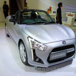 Silver Daihatsu Copen front three quarters left at the Indonesia International Motor Show 2014