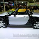 Silver Daihatsu Copen side at the Indonesia International Motor Show 2014