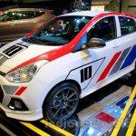 Sporty Hyundai Grand i10 at the 2014 Indonesia International Motor Show front quarter