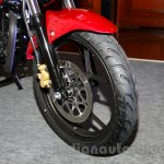 Suzuki Gixxer front tire at the Indian launch