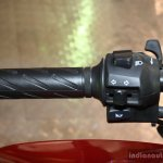 Suzuki Gixxer handlebar left at the 2014 Nepal Auto Show