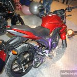 Suzuki Gixxer rear three quarters at the 2014 Nepal Auto Show