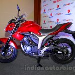 Suzuki Gixxer side at the Indian launch