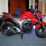 Suzuki Gixxer side view at the Indian launch