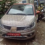 Tata Bolt with orange interior spied front