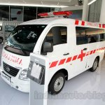 Tata Super Ace Ambulance at the 2014 Indonesia International Motor Show front quarter angle
