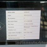 Tata Super Ace at the 2014 Indonesia International Motor Show spec sheet