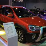 Toyota Etios Cross front left three quarter at the 2014 NADA Auto Show Nepal