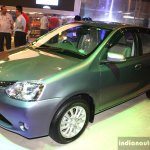 Toyota Etios Liva front three quarter at the 2014 Nepal Auto Show