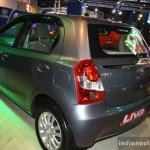 Toyota Etios Liva rear three quarter at the 2014 Nepal Auto Show