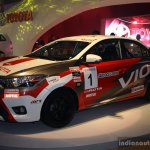 Toyota Vios Cup front three quarter  at the 2014 Philippines International Motor Show