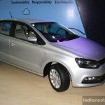 VW Polo facelift front right three quarter at the NADA Auto Show Nepal