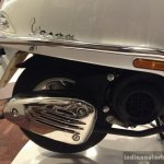 Vespa Elegante white engine cover