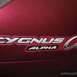 Yamaha Cygnus Alpha logo at the 2014 Nepal Auto Show